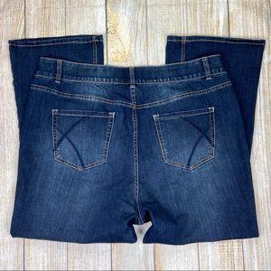 LANE BRYANT Blue High Rise Bootcut Leg Jeans